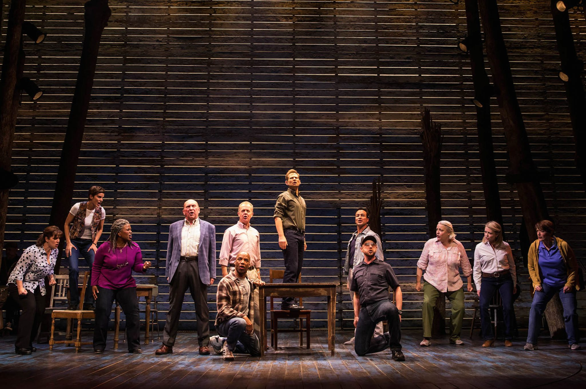 The cast of COME FROM AWAY musical