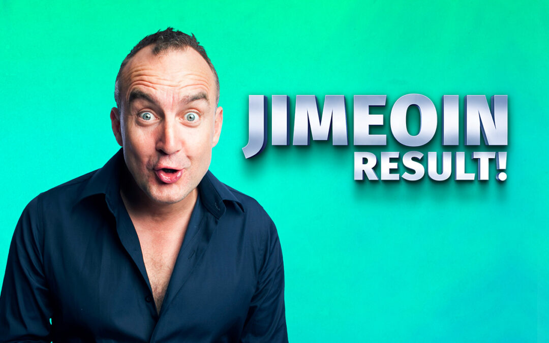 Jimeoin's new show Result! is full of belly laughs